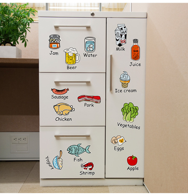 refrigerator stickers tile glass window stickers kitchen cabinet