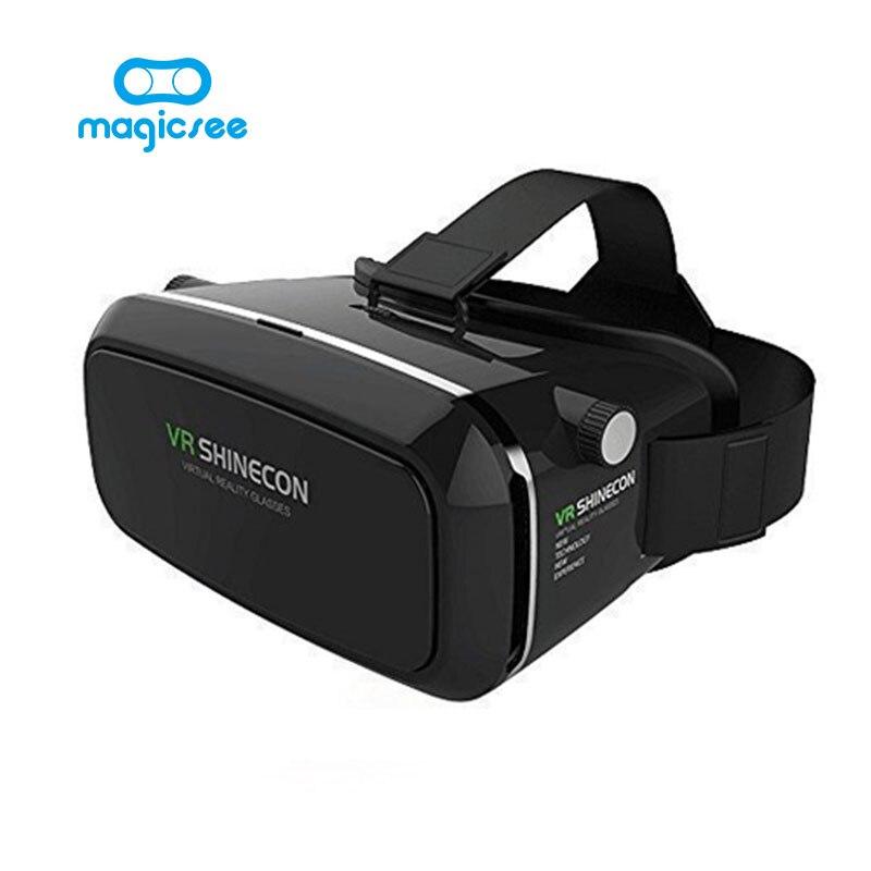 2017 gafas de realidad virtual 3d shinecon google cartón 2.0 vr vr auricular gaf