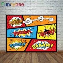 Funnytree Boom de The Big Bang Theory Teoria decoração de fundo para a foto de estúdio de fotografia fundos