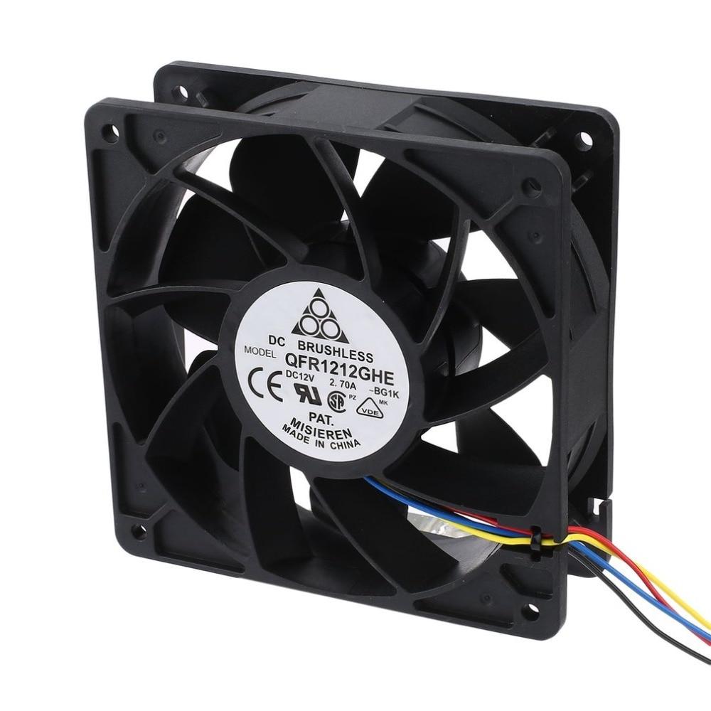6000 rpm DC12V 2,7 minero de ventilador de refrigeración 4-Pin Conector sin escobillas de refrigerador para Antminer Bitmain S7 S9 7 aspas