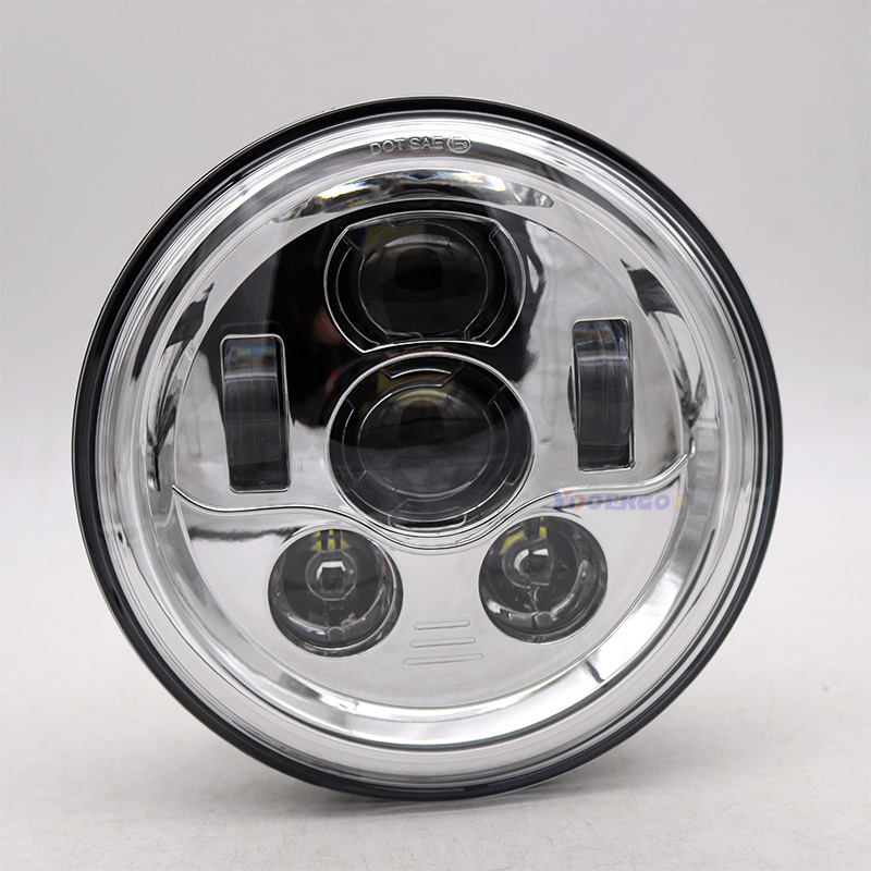 For Jeep Wrangler JK accessories 7 Round led headlight H4 7inch 45W LED Projector headlights for Land Rover Defender TJ LJ
