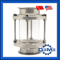 1 5 Sanitary Sight Glass Stainless Steel View Glass For Pipeline Tri Clamp End