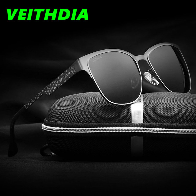 VEITHDIA Brand Stainless Steel Sun Glasses Polarized Blue Coating Mirror Driving Men's Sunglasses Male Eyewear For Men/Women