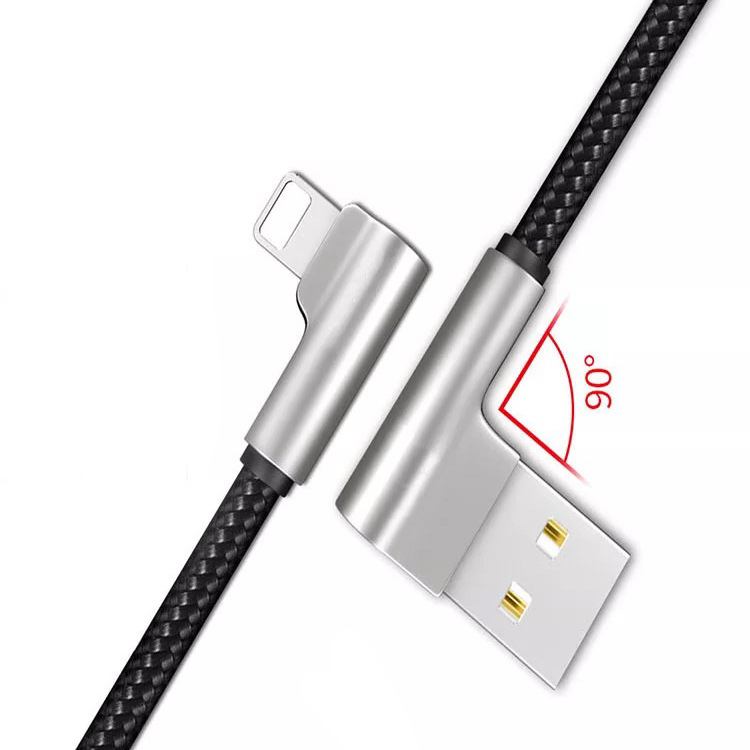 2.4A quick charging elbow data line For iPhone 7 Plus Nylon Hand travel data line USB For iPhone 6s 8plus X