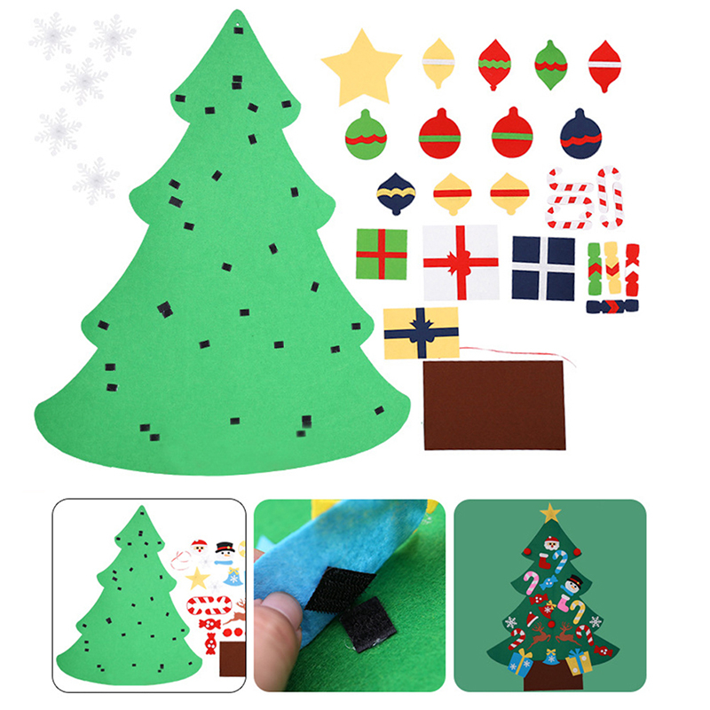 DIY Stereo Felt Christmas Tree for Door Wall Hanging ...