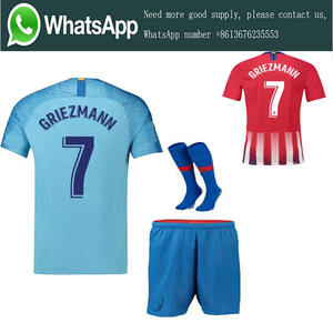 ... spain 18 19 atletico madrided soccer jersey 2018 2019 griezmann koke  gabi saul carrasco adult suit 873e5ef3c