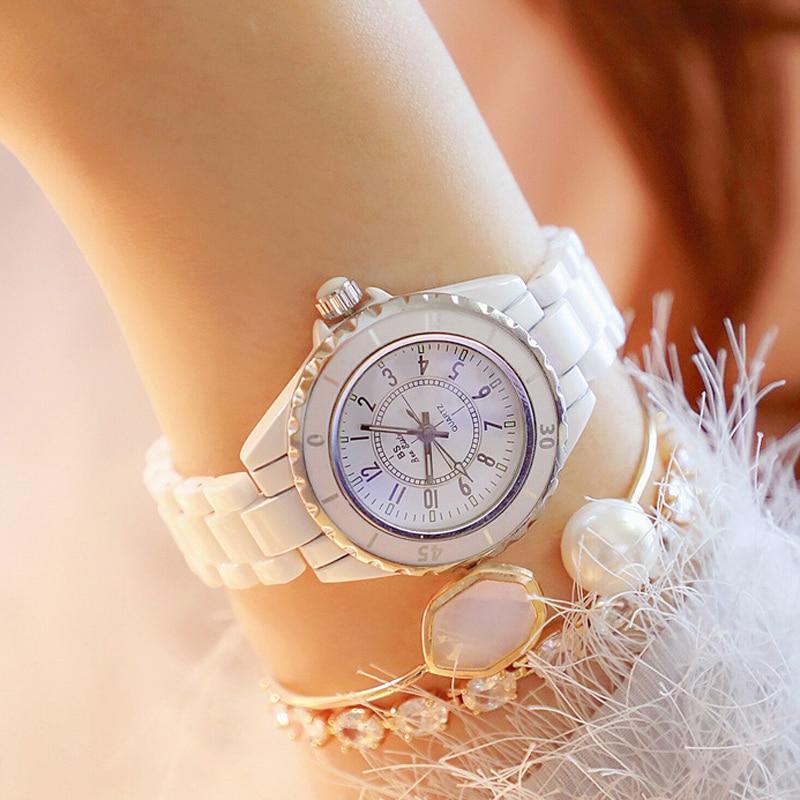 Fashion 2019 New Hot Ceramic Watchband Waterproof Wristwatches Top Brand Luxury Ladies Watch Women Quartz Vintage Women Watches