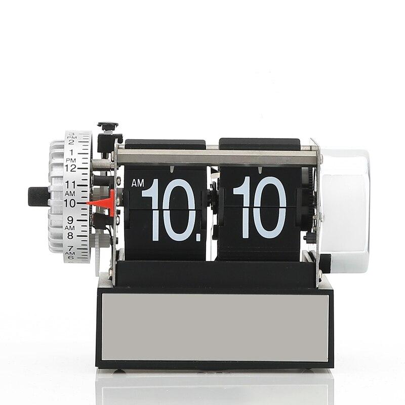 Autobots authentique flip horloge avec alarme muet machine noyau dynamique rétro horloge salon étude chambre bureau nouveau cadeau fantaisie