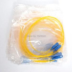 Image 4 - Бесплатная доставка 50 шт./лот одномодовый симплекс ПВХ 0,9 мм 1,5 метров SC/UPC Волоконно оптический косичка SC/UPC косичка