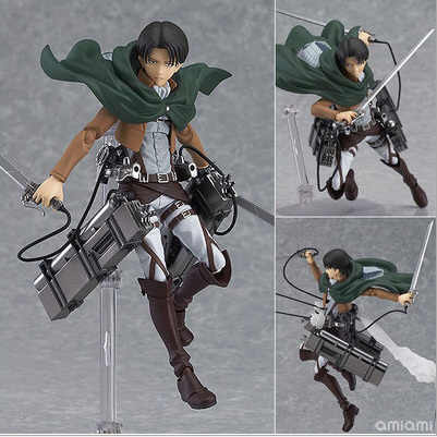14 cm anime attack on titan scouting legião shingeki não kyojin Levi Figma 213 PVC action Figure Gift Collection Modelo Toy Eren