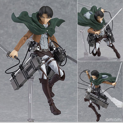 ФОТО 14cm anime attack on titan legion scouting shingeki no kyojin levi figma 213 pvc action figure model  collection toy gift eren