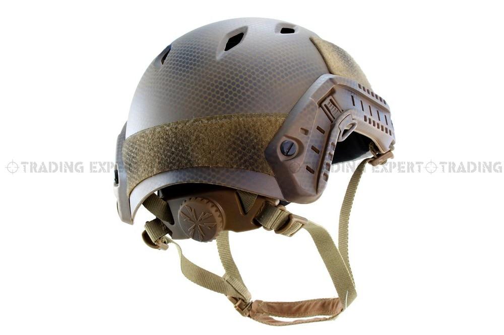 Emerson Airsoft FAST helmet Base Jump Helmet (Seals plate Highlander  ATFG Mandrake  Marpat Desert AT) em5659c airsoft fast helmet ballistic style helmet kyptek highlander cycling helmet