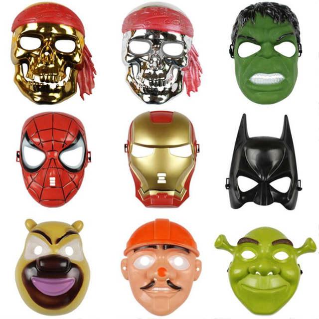 Halloween Masks For Kids.Us 1 29 40 Off Avengers Party Mask Halloween Masks Superhero Batman Hulk Captain America Ironman Spiderman Mask Kids Toy Theme Party Cosplay In