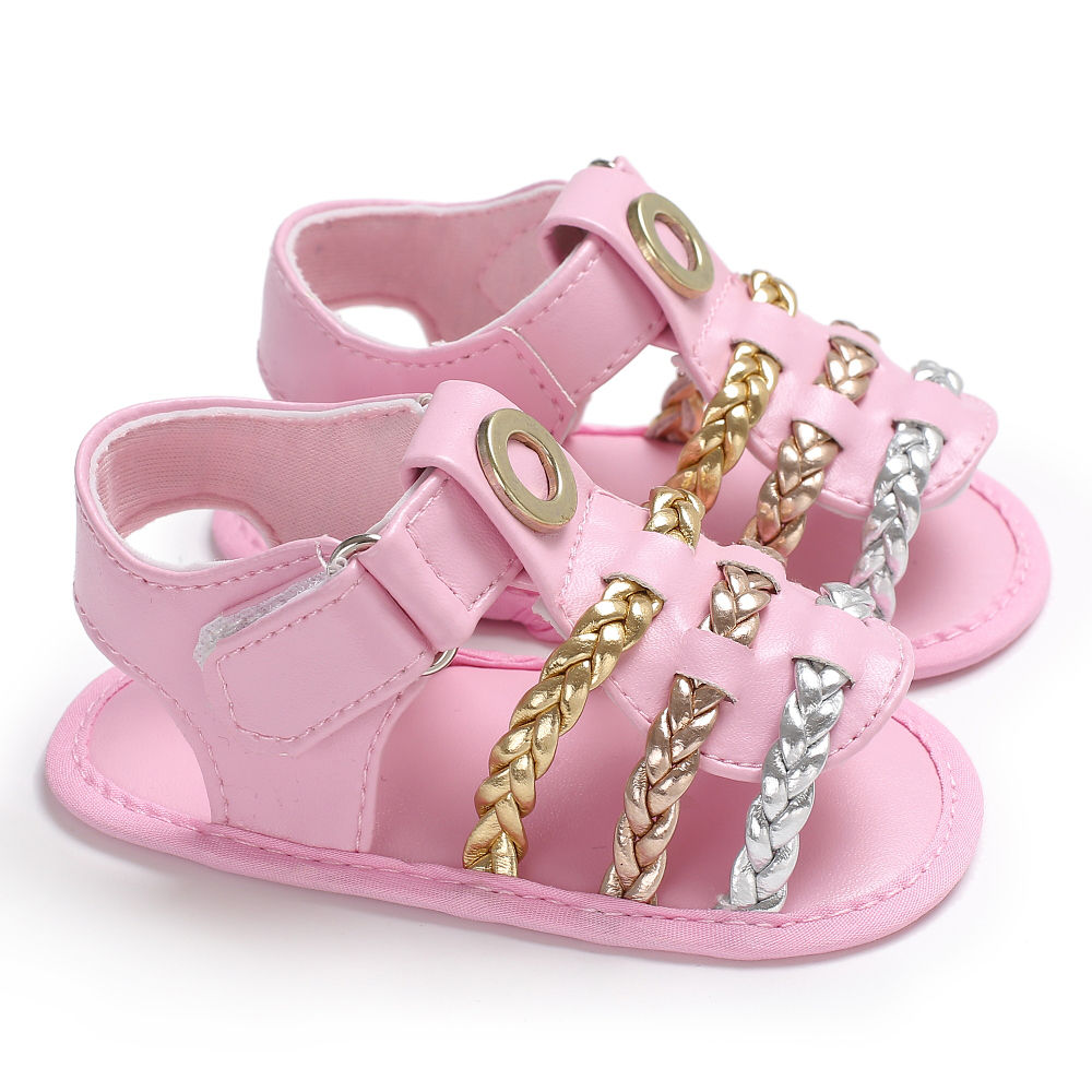 Summer new style baby sandals PU leather kids boys and girls Knitted sandals soft sole 2018 children fashion Beach shoes