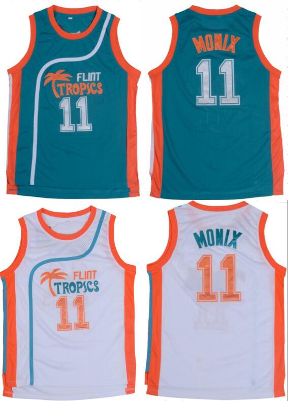 reputable site 0f6a0 aae1a 11# Green White Jackie Moon Flint Tropical Throwback Jerseys ...