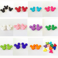 ( Choose Color First ) 34mm*37mm 50pcs/lot Acrylic Solid Mouse Beads For Chunky Necklace Making