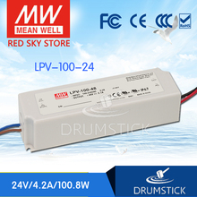 Redsky [freeshipping02] MEAN WELL original LPV-100-24 24V 4.2A meanwell LPV-100 100.8W Single Output LED Switching Power Supply [powernex] mean well original msp 100 24 24v 4 5a meanwell msp 100 24v 108w single output medical type power supply