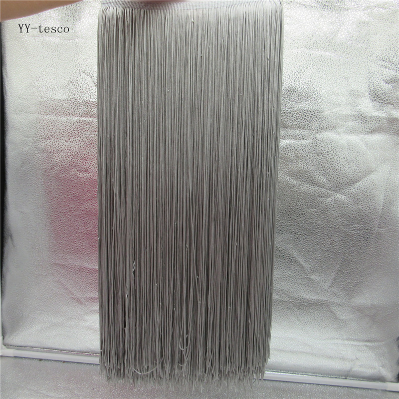 10 Meters 50CM Long Lace Fringe Trim Tassel gray Fringe Trimming For Diy Latin Dress Stage Clothes Accessories Lace Ribbon