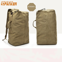 Mens Outdoor Bag Luggage Travel Large Army Bucket Backpack Multifunctional Military Canvas Backpacks Sports Shoulder Bags
