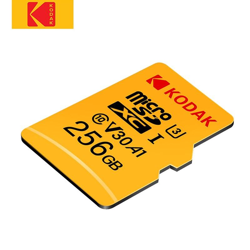 Kodak Haute Vitesse 256 GB Micro SD carte classe 10 U3 4 K cartao de memoria Flash Carte Mémoire 256 GB mecard Micro sd kart