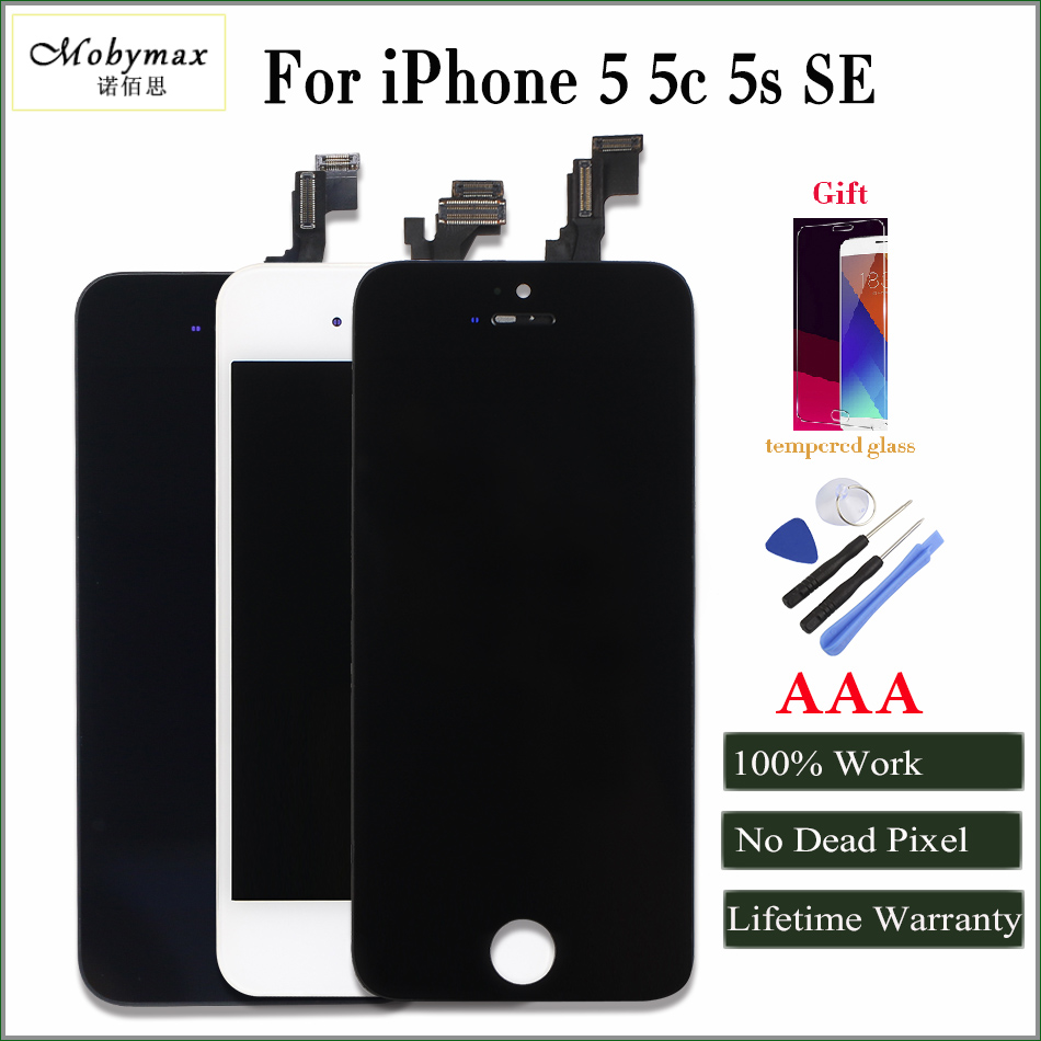 iphone 5 black screen mobymax aaa quality lcd screen for iphone 5 display 14484