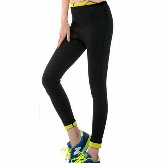 a7ba019bdbc94 Women s Trousers Pants Black Capris Sportswear New Fitness Leggings Shapers  Plus-Size Weight Loss Compression Slimming Pants