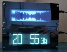 VFD FFT Müzik Spektrum Göstergesi vfd saat göstergesi VU Metre Ekran Ses sinyal YARDıMCı araba Amplifikatör Için süper LED oled