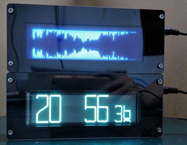 VFD FFT Music Spectrum Indicator vfd clock Display VU Meter Screen Audio signal AUX For car Amplifier  super LED oled