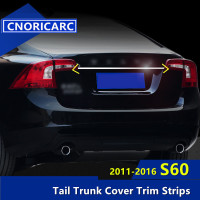 CNORICARC Stainless Steel Styling Car Trunk Trim Strip For Volvo S60 2011 16 Exterior Tail Decorative Sequin Auto Accessories