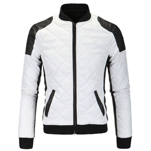 2016 New Men's PU Leather Jacket Fall Motorcycle Casual Jacket Male Leather Jackets Plus size 4XL 5XL jaqueta de couro masculina