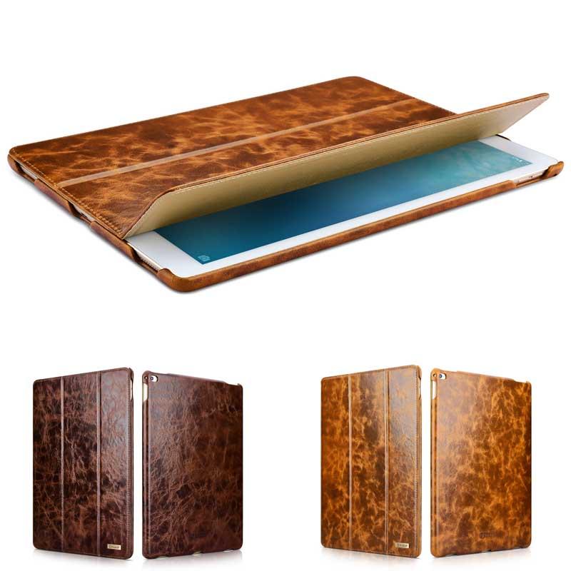 ФОТО Top Grade Oil Wax Pattern Cowhide Genuine Leather Case for Apple iPad Pro 12.9
