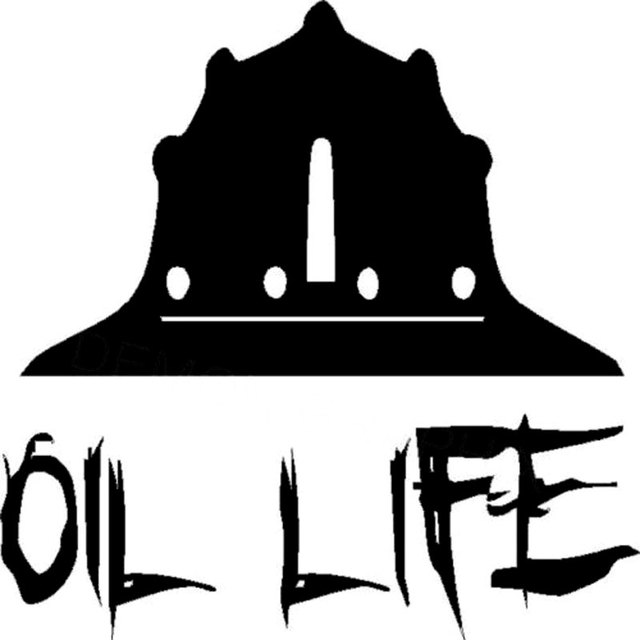 10.2CM 10.2CM Oil Life Hard Hat Oilfield Hand Roughneck Pipeliner Vinyl  Decal Decorate Sticker Decoration Black Sliver C8-1097 510399c35246