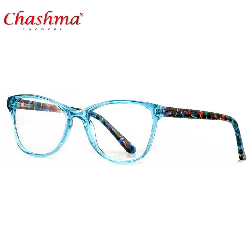 ad65958b4f0 Chashma Acetate Eyeglasses Frame Prescription Designer Brand Clear Optical  Myopia Eyewear Oculos de grau Eye Glasses