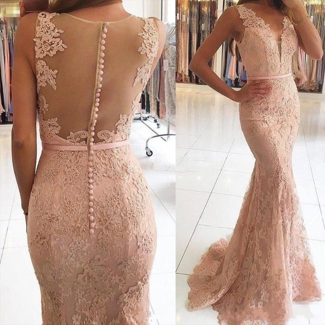 Pink Formal Gown Mermaid...