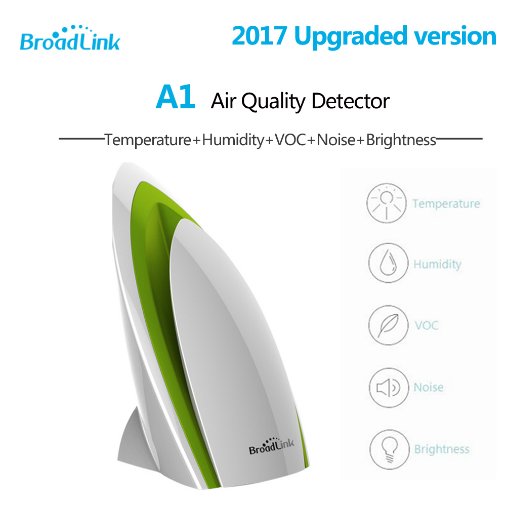 Broadlink E-Air A1 Air Quatily Detector Sensor Intelligent Smart Home Automation System Temperature Humidity PM2.5 PM 2.5 etc. 9999ppm carbon dioxide co2 monitor detector air temperature humidity logger