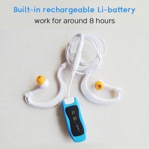 Image 5 - גבוהה באיכות Mp3 נגן 4GB IPX8 עמיד למים שחייה MP3 לקיץ צלילה חיצוני ספורט FM רדיו מוסיקה נגן עם אוזניות