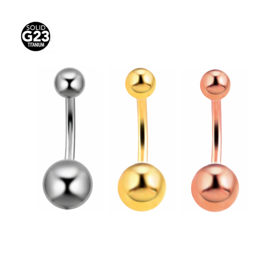 1PC Titanium Navel Piercing Rose Gold Piercing de Umbigo Silver Belly Button Piercings Navels Rings Sexy Body Jewelry Piercings