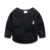 Engrosamiento niño pullover camisa muchachos de las muchachas sudaderas niño vellón de manga larga ropa interior de bebé superior de color sólido