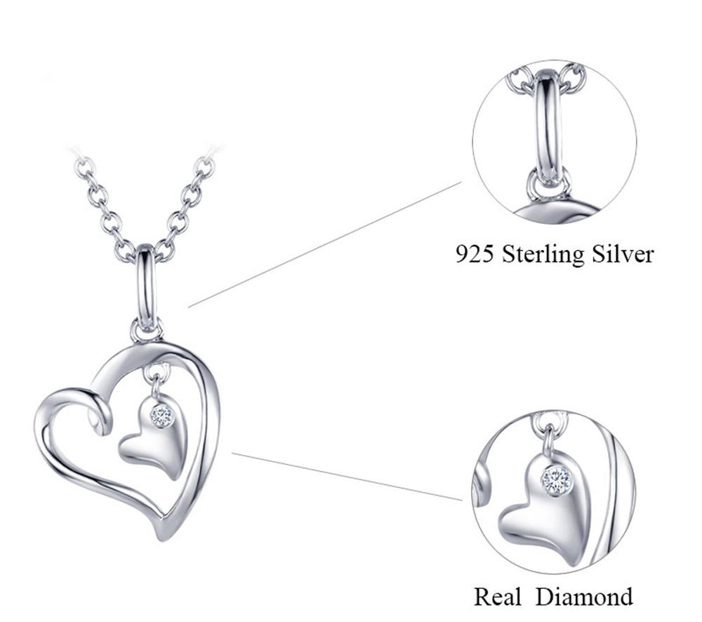 silver diamond pendants CAP03749SA-1 (25)