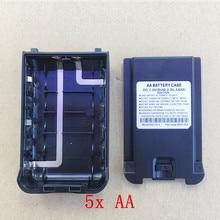 5ピース/ロットオリジナル5倍aaバッテリーケースボックス用uv8dトランシーバーKG 2A 4