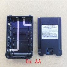 5 pçs/lote Original 5X AA caixa de caixa de bateria para Wouxun KG UV8D walkie talkie KG 2A 4