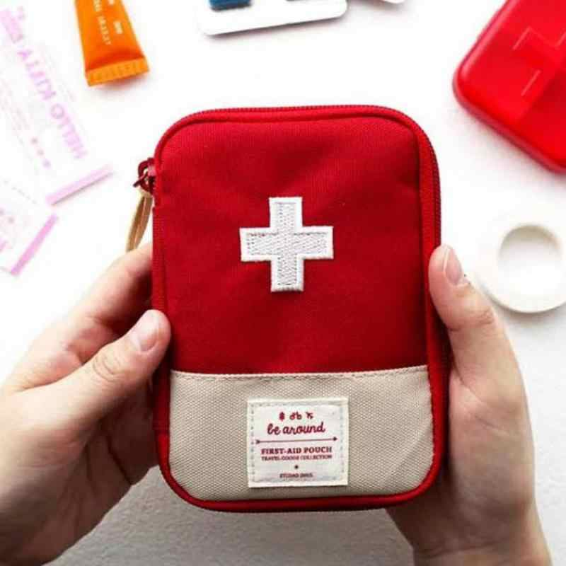 Portable Mini Medicine Box Storage Of Cosmetics Travel Storage Bag Medical Kit Home Medical Storage Bag First-Aid Kit Organiser