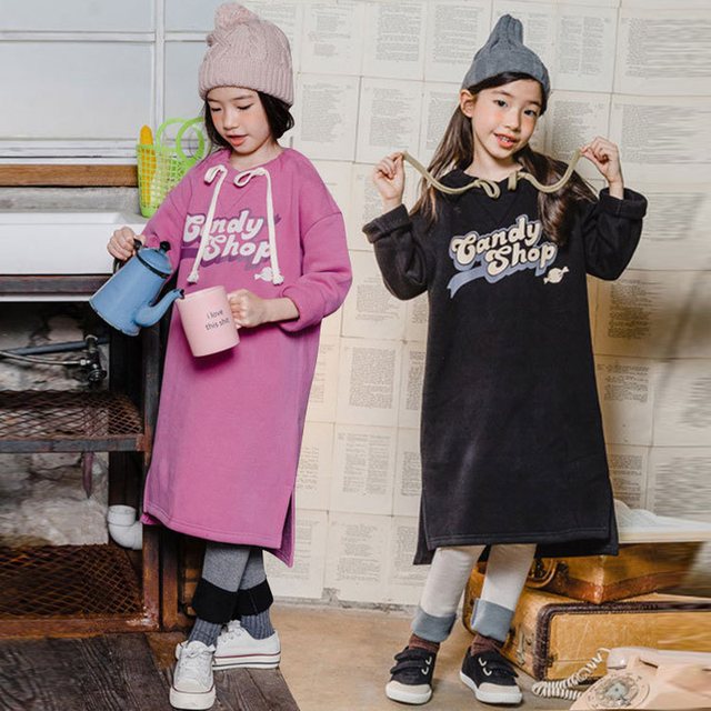 0393143d1d5ce 2018 New Toddler Girl Sweatshirt Winter Baby Girls Thickened Shirt Kid  Sweatshirt Dress Children Cotton Top Kids Clothes,#3654