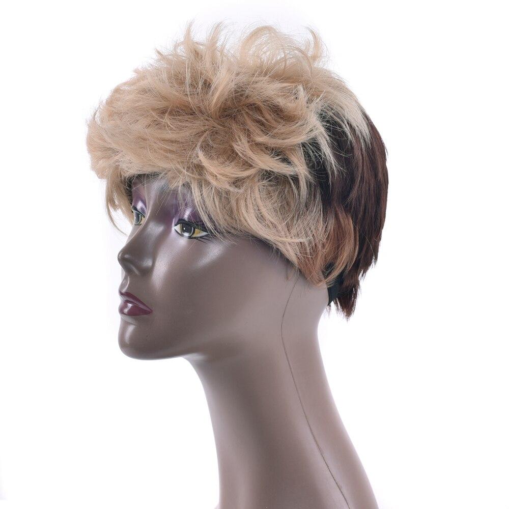Soowee Короткие вьющиеся Синтетические волосы высокое Температура Волокно Искусственные  ...