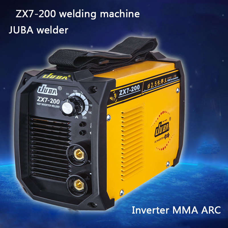 1 PC  Hot Selling Brand New Household mini all- copper welder Portable Welding Inverter ARC ZX7-200 Electric welding machine portable arc welder household inverter high quality mini electric welding machine 200 amp 220v for household