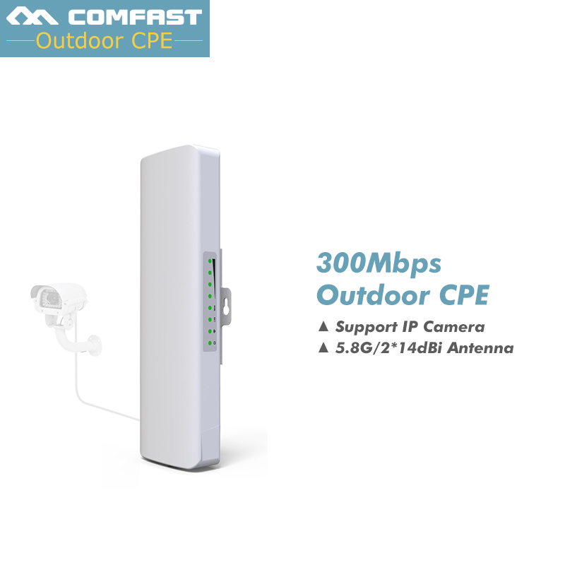 COMFAST wireless outdoor CPE long range wifi router  5ghz access point for ip camera outdoor amplifier Range extend comfast wireless outdoor router 5 8g 300mbps wifi signal booster amplifier network bridge antenna wi fi access point cf e312a