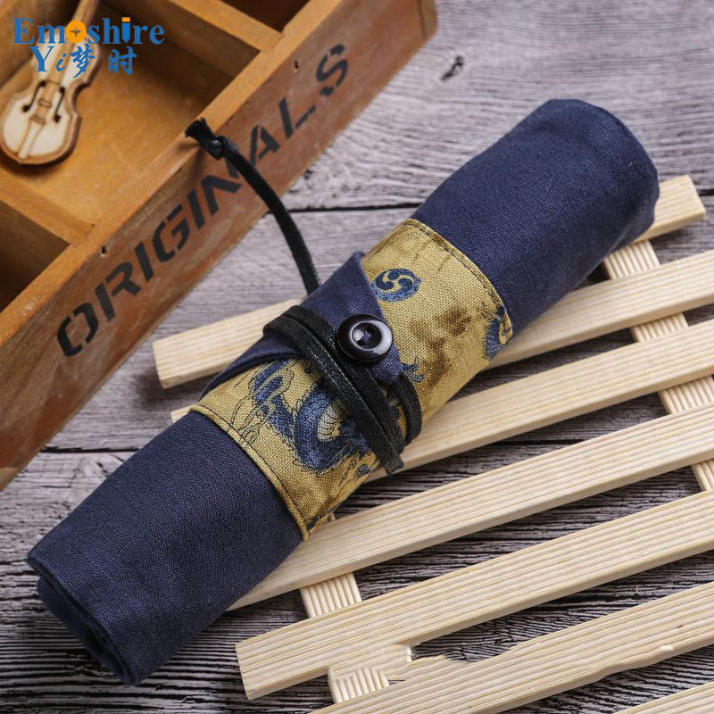цена New High Quality Canvas Pencil Cases Stationery Store Big Size School Pencil Bag Stationery For Students Pencil Case B060