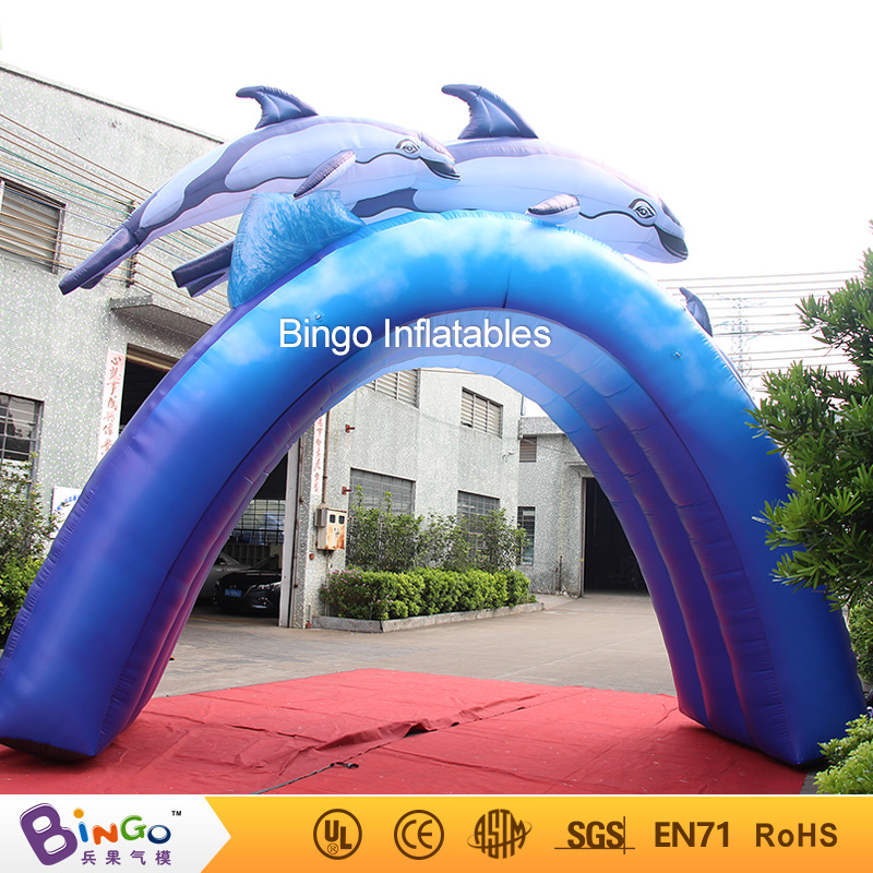 2017 Summer Inflatable Arch 16ft * 13ft inflatable Dolphin Archway for Outdoor Decoration Pool Inflatable Toys for Children