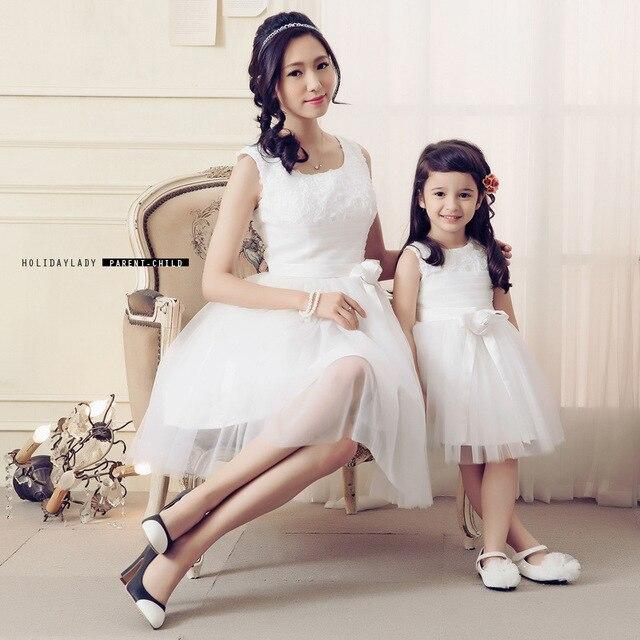 hija de la madre vestidos vestido de novia de encaje blanco ropa