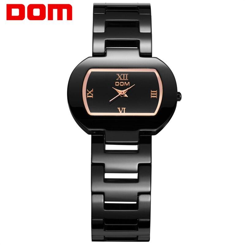 f1e28ddcf2 DOM relojes de mujer las mujeres famosa marca de lujo reloj Casual de  cuarzo mujer señoras relojes mujer relojes T-576-1M
